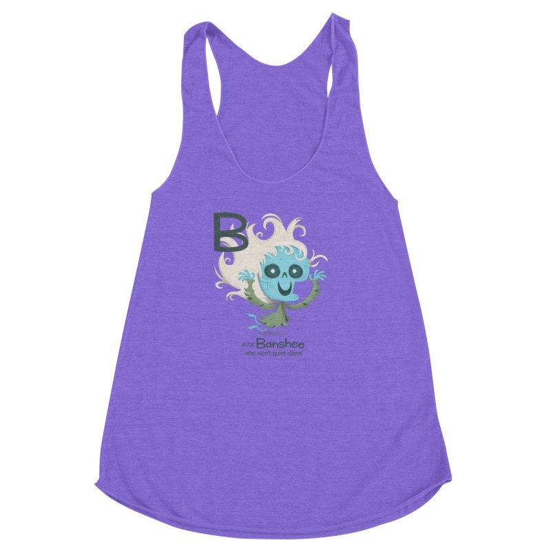 B is for Banshee Women's Racerback Triblend Tank by Hazy Dell Press