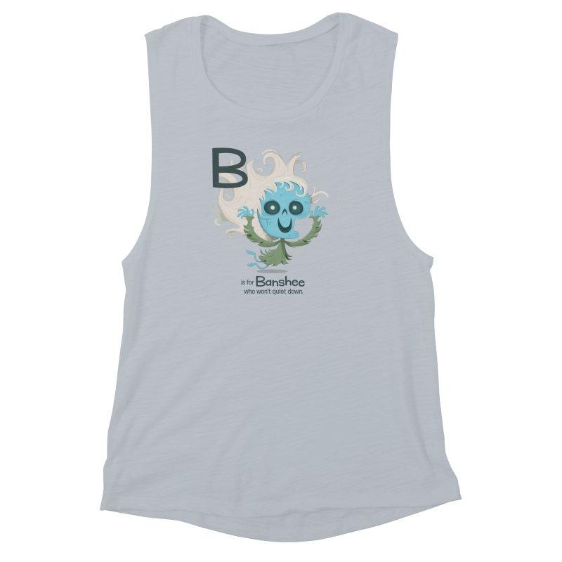 B is for Banshee Women's Muscle Tank by Hazy Dell Press