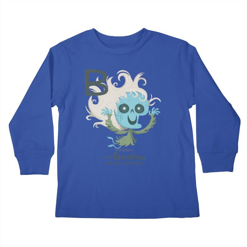 B is for Banshee Kids Longsleeve T-Shirt by Hazy Dell Press