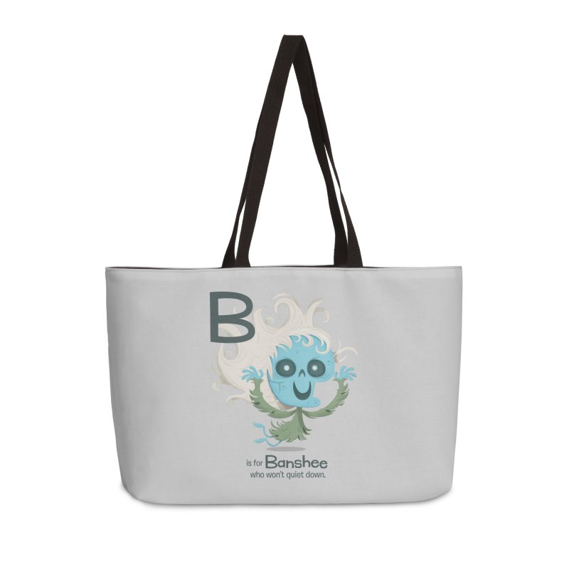 B is for Banshee Accessories Weekender Bag Bag by Hazy Dell Press