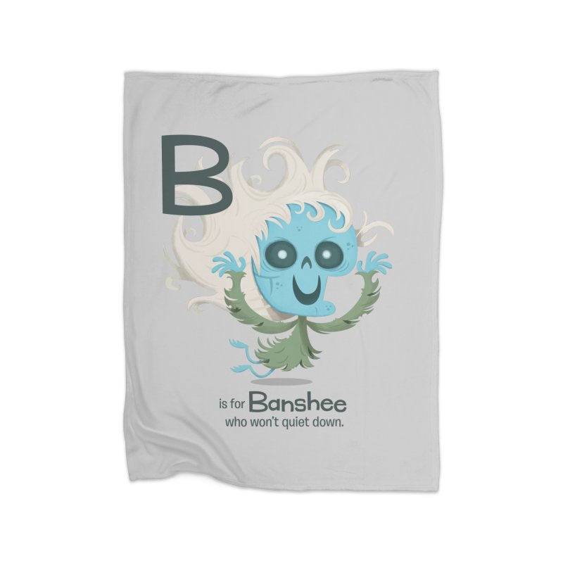 B is for Banshee Home Fleece Blanket Blanket by Hazy Dell Press