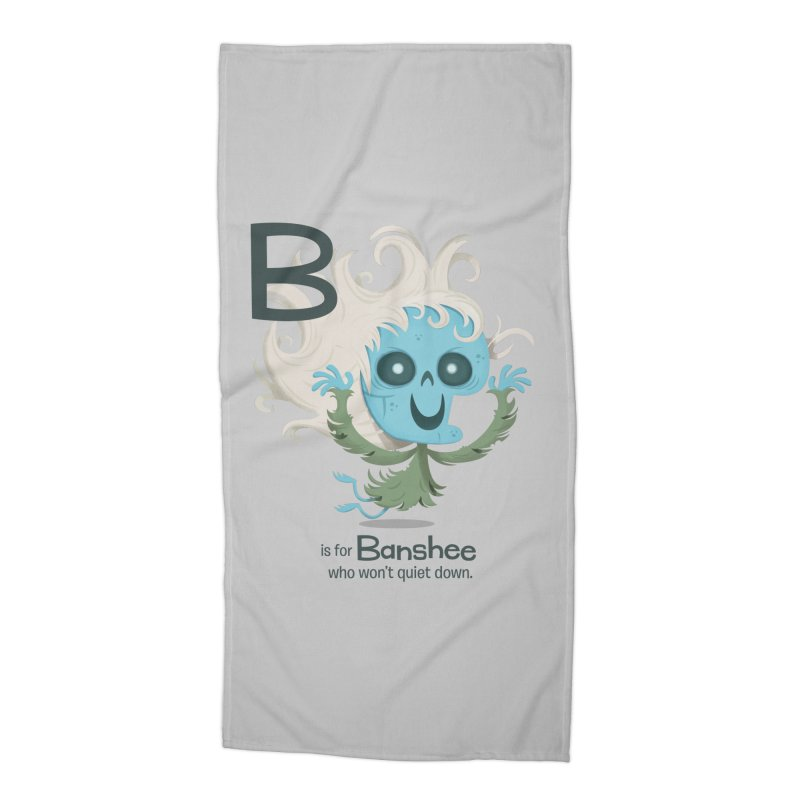 B is for Banshee Accessories Beach Towel by Hazy Dell Press