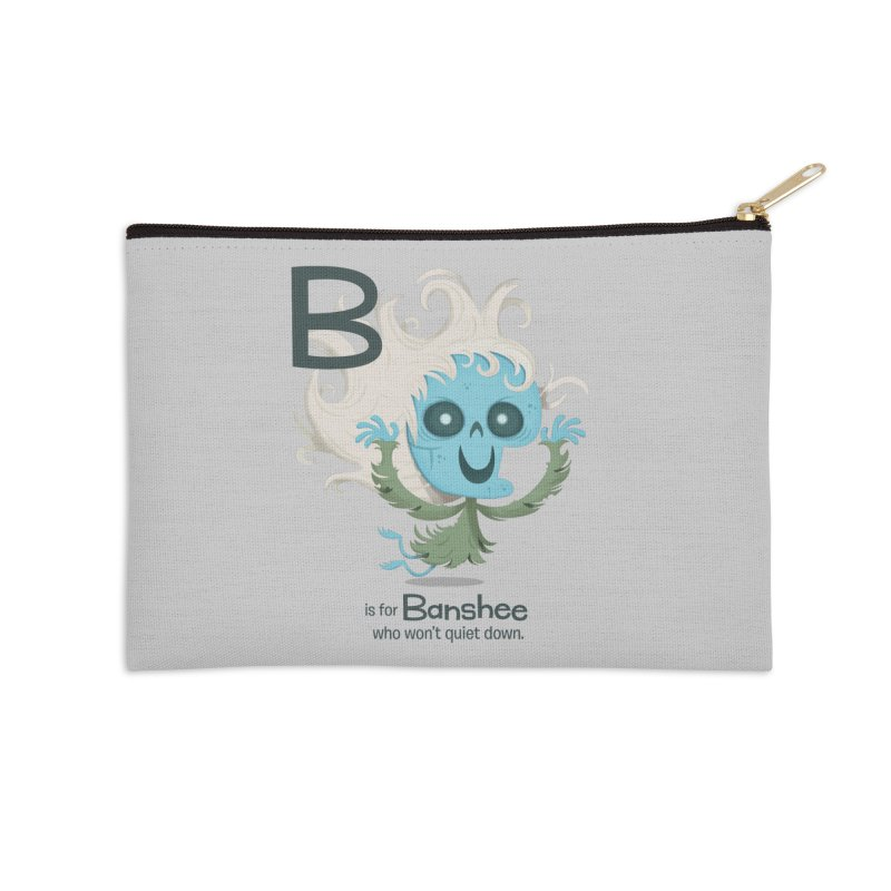 B is for Banshee Accessories Zip Pouch by Hazy Dell Press