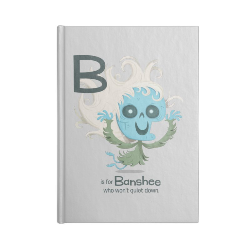 B is for Banshee Accessories Lined Journal Notebook by Hazy Dell Press