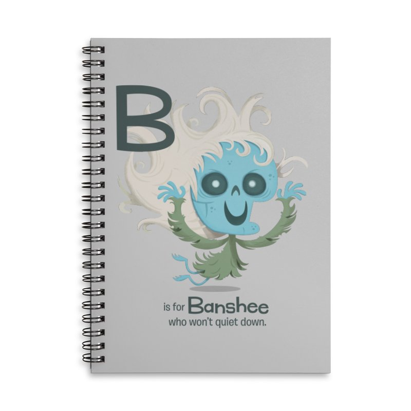 B is for Banshee Accessories Lined Spiral Notebook by Hazy Dell Press