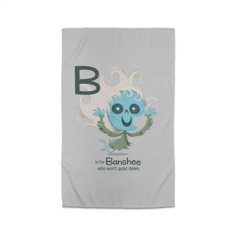 B is for Banshee Home Rug by Hazy Dell Press