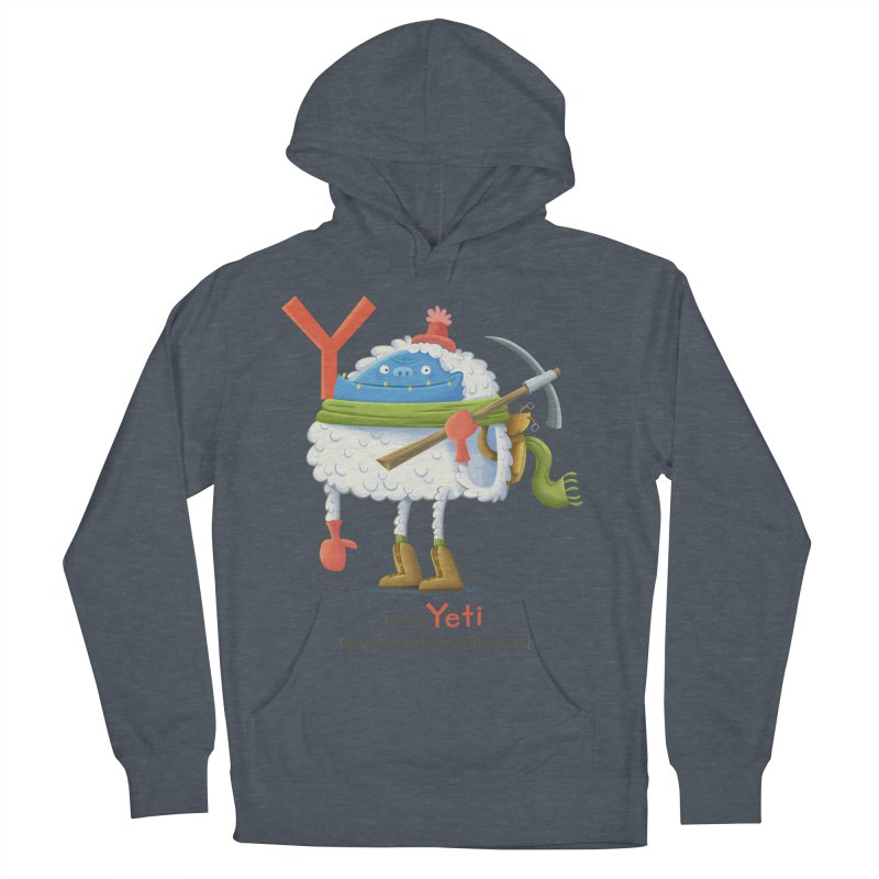 Y is for Yeti Women's French Terry Pullover Hoody by Hazy Dell Press