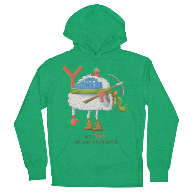 Y is for Yeti Men's Pullover Hoody by Hazy Dell Press