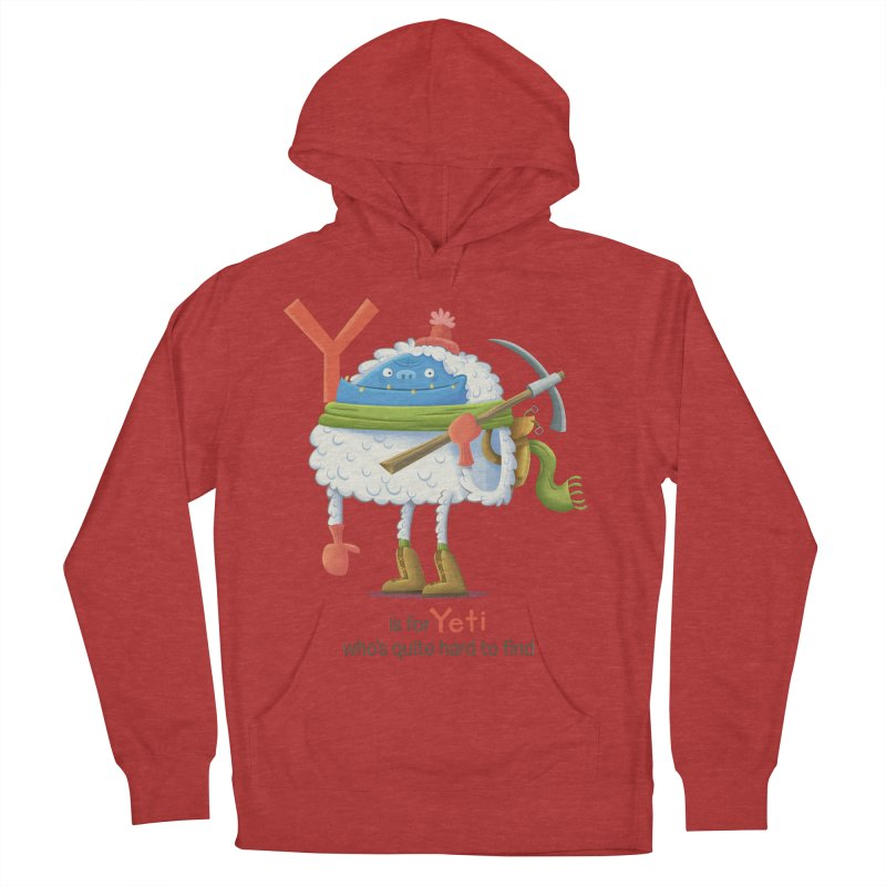 Y is for Yeti Men's French Terry Pullover Hoody by Hazy Dell Press