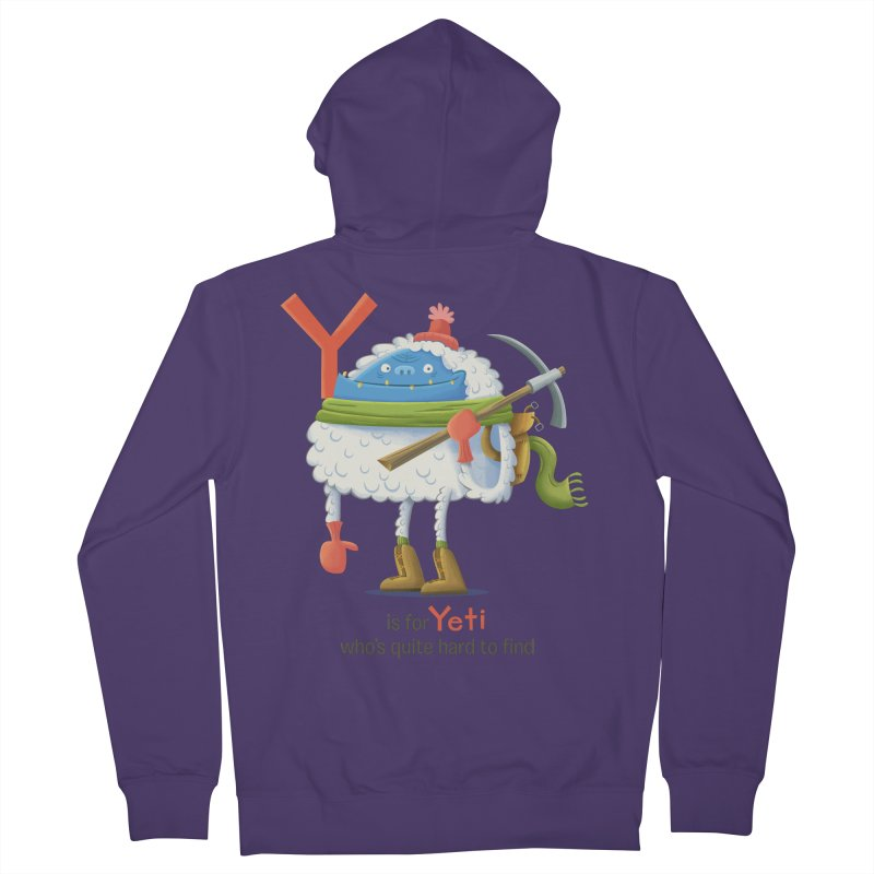 Y is for Yeti Women's Zip-Up Hoody by Hazy Dell Press