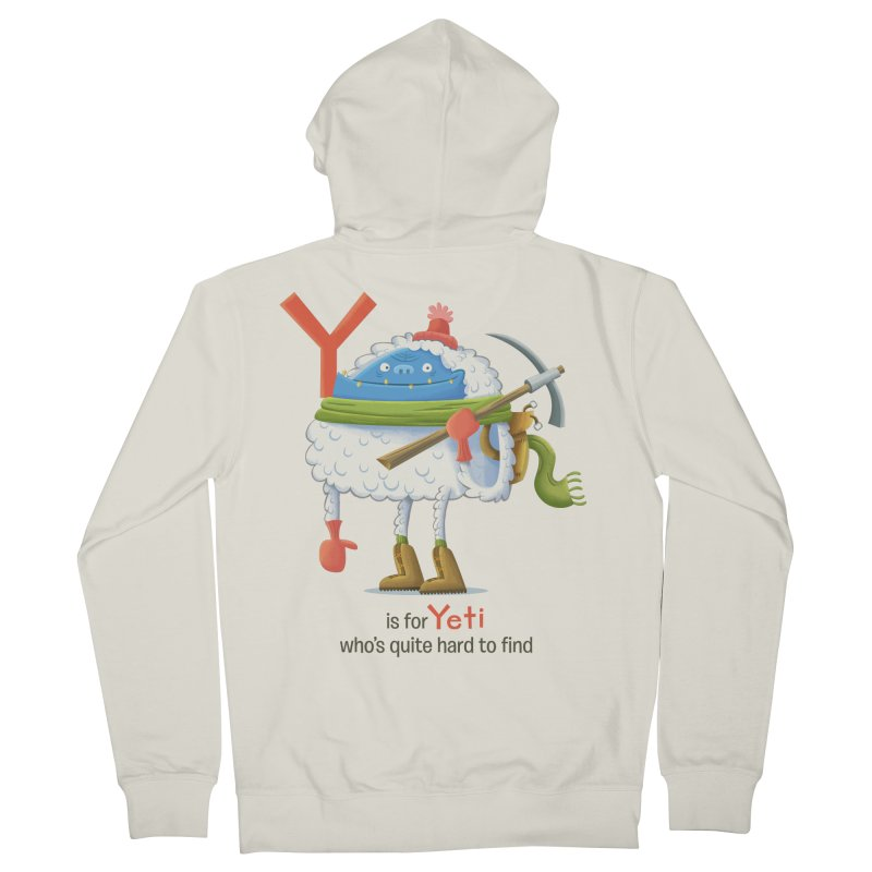 Y is for Yeti Women's French Terry Zip-Up Hoody by Hazy Dell Press
