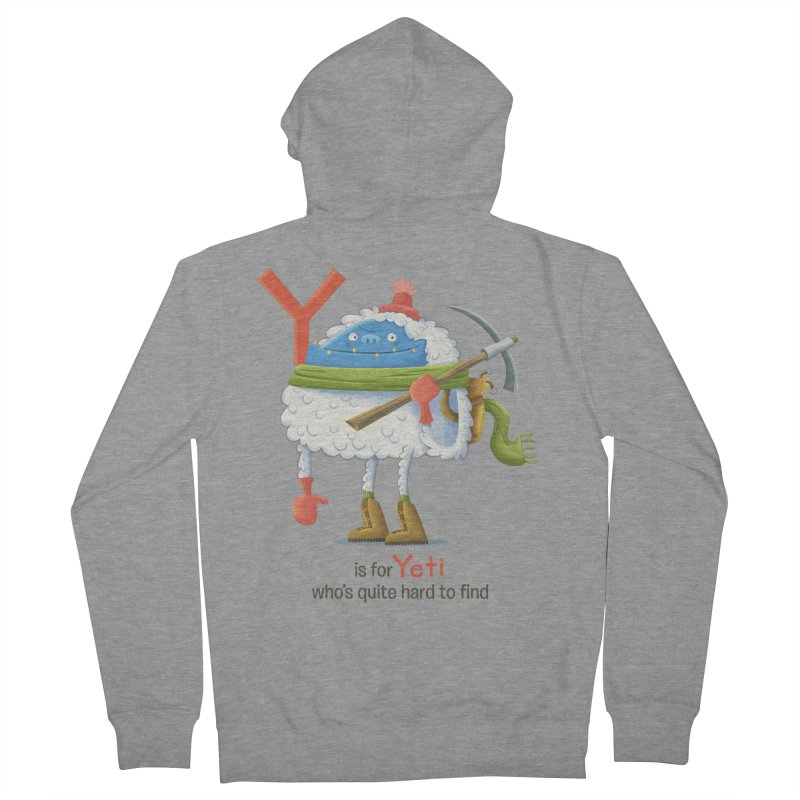 Y is for Yeti Men's French Terry Zip-Up Hoody by Hazy Dell Press