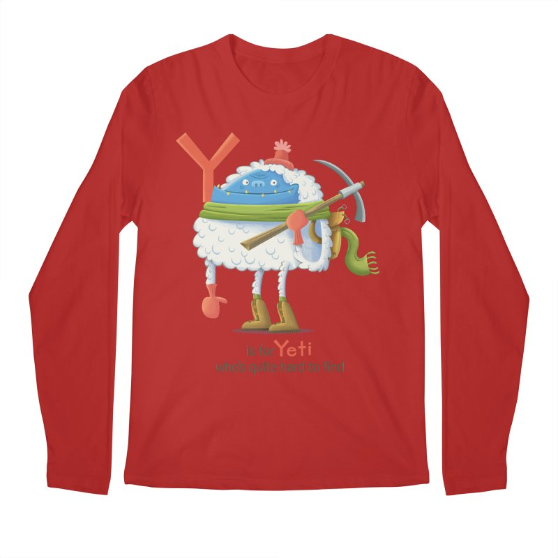 Y is for Yeti Men's Longsleeve T-Shirt by Hazy Dell Press