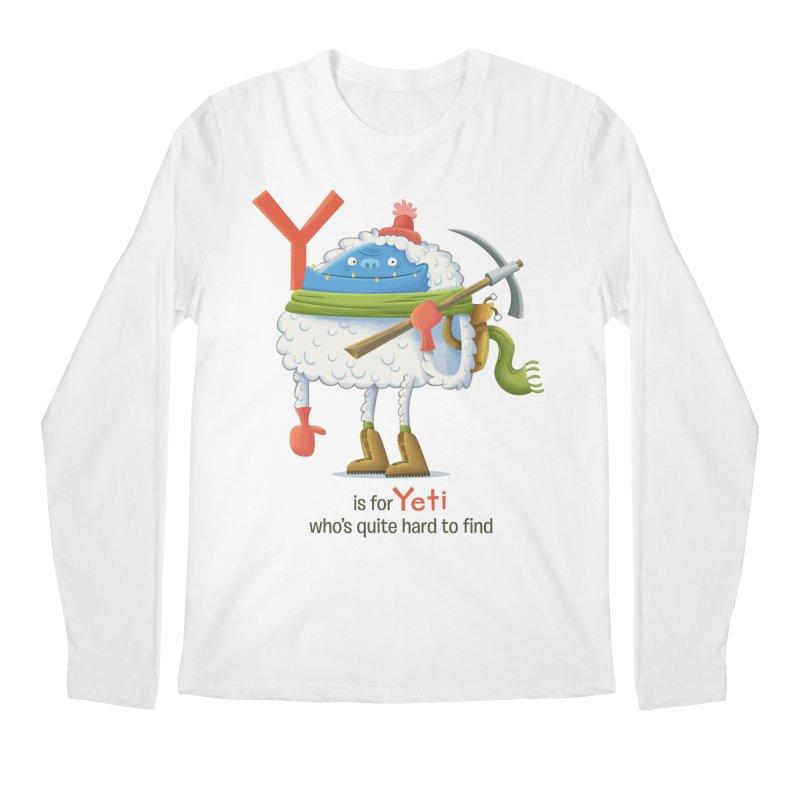 Y is for Yeti Men's Regular Longsleeve T-Shirt by Hazy Dell Press