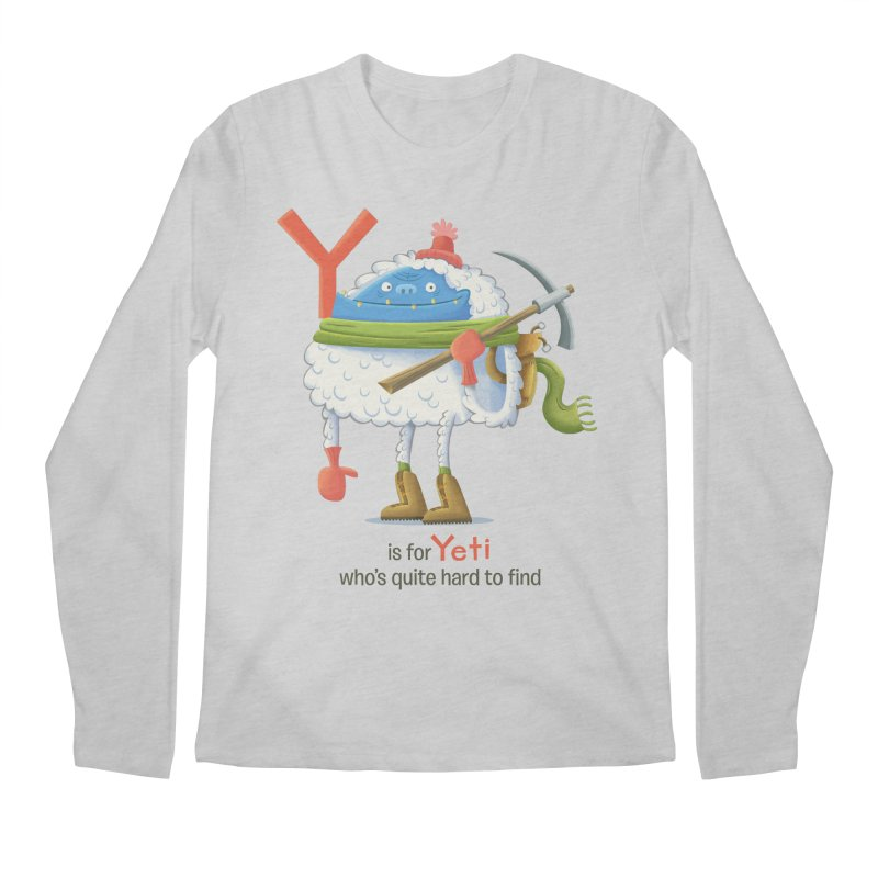 Y is for Yeti Men's Regular Longsleeve T-Shirt by Hazy Dell Press