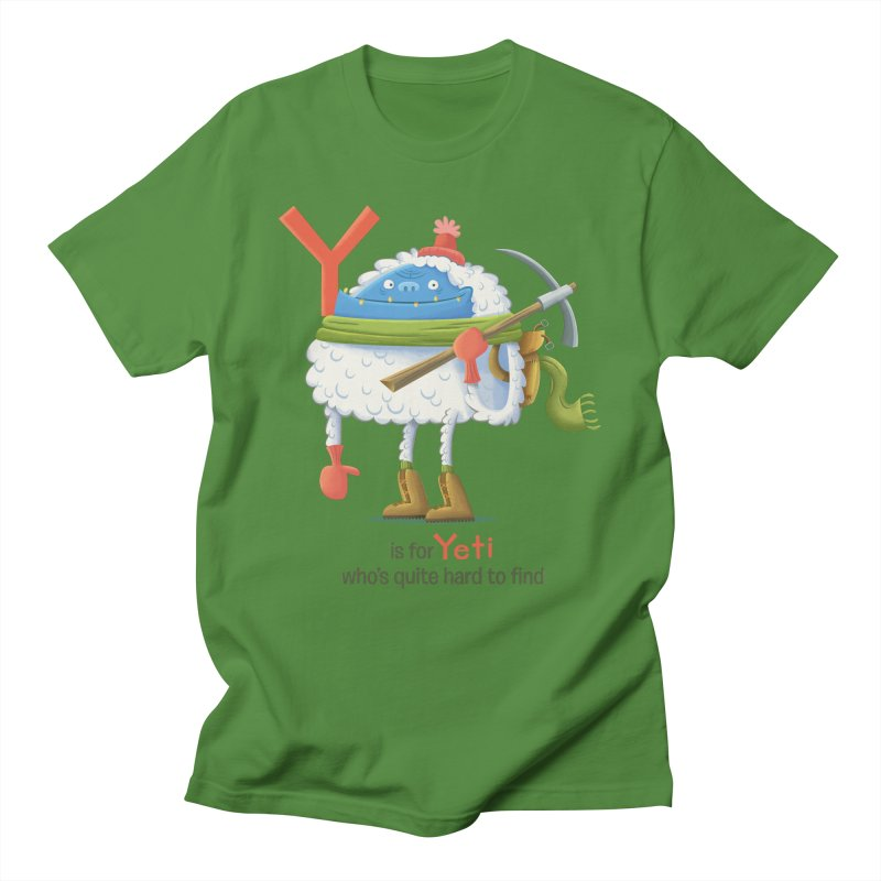 Y is for Yeti Men's Regular T-Shirt by Hazy Dell Press