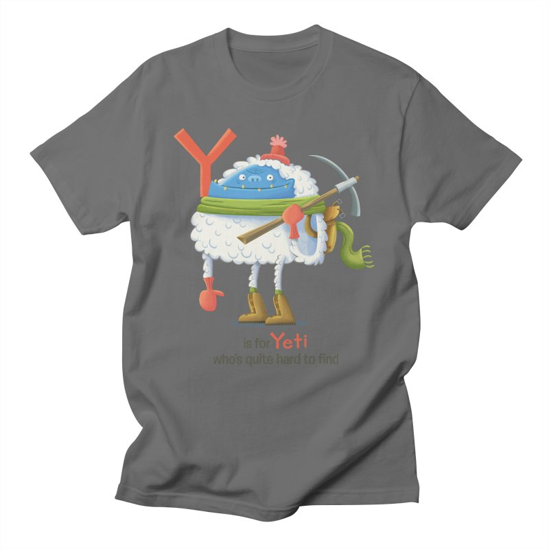 Y is for Yeti Men's T-Shirt by Hazy Dell Press