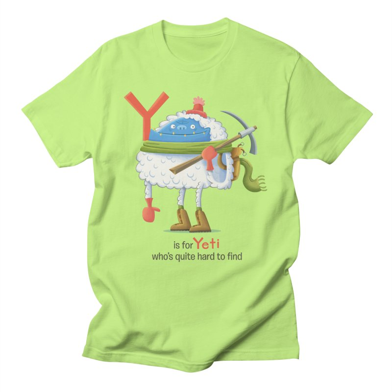 Y is for Yeti Women's Regular Unisex T-Shirt by Hazy Dell Press