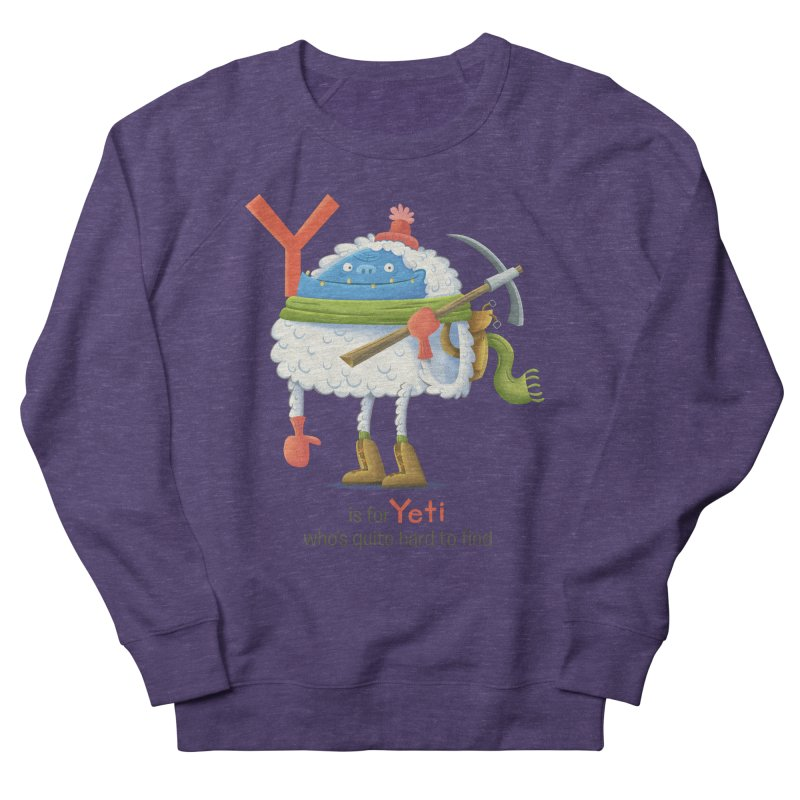 Y is for Yeti Women's French Terry Sweatshirt by Hazy Dell Press