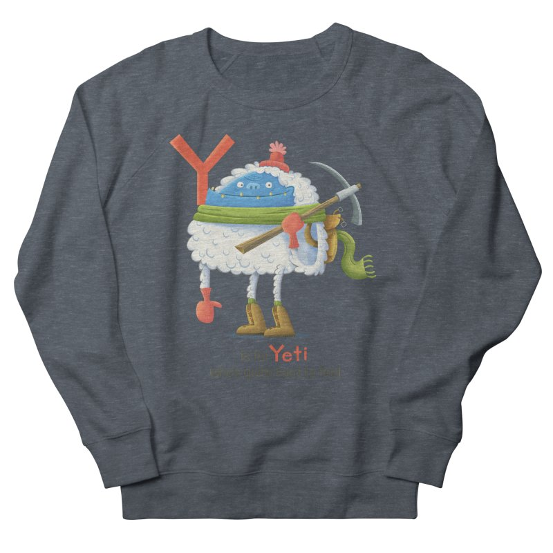 Y is for Yeti Men's French Terry Sweatshirt by Hazy Dell Press
