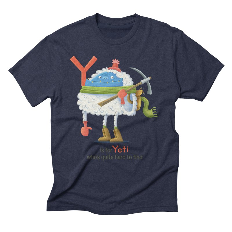 Y is for Yeti Men's Triblend T-Shirt by Hazy Dell Press