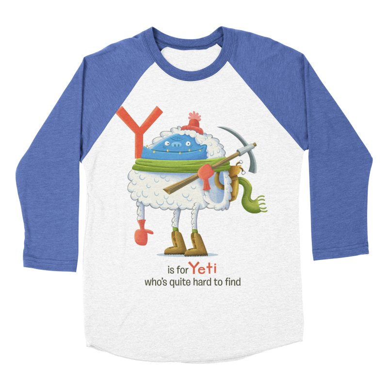 Y is for Yeti Men's Baseball Triblend T-Shirt by Hazy Dell Press