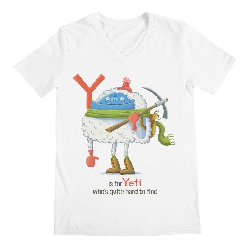 Y is for Yeti Men's V-Neck by Hazy Dell Press