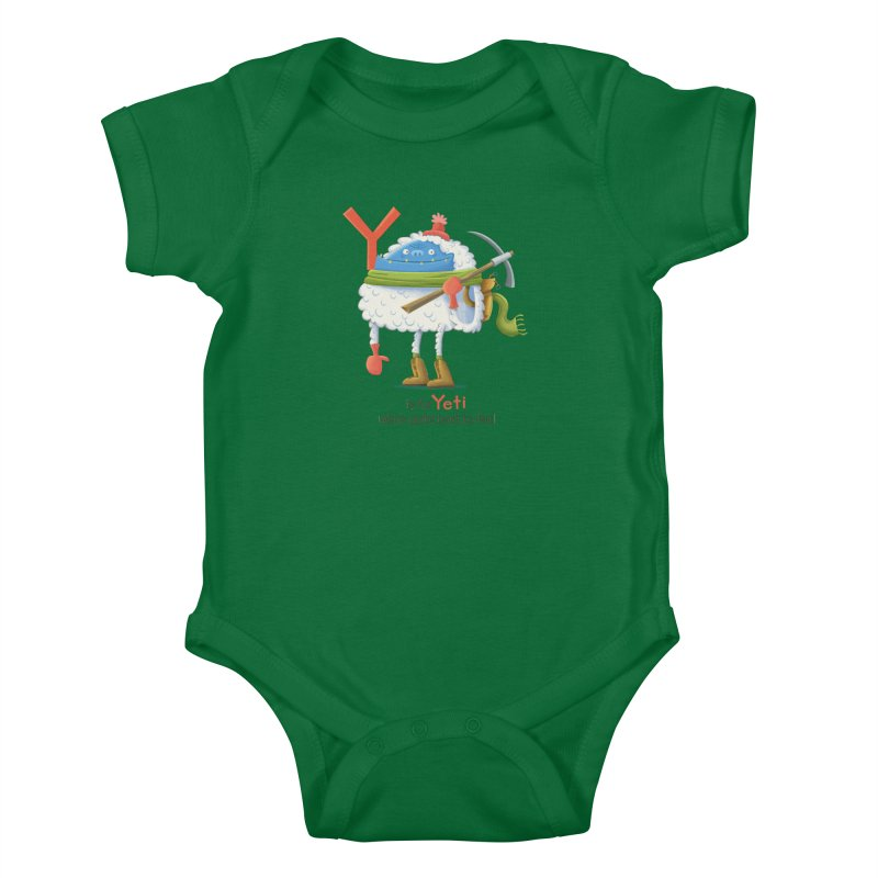 Y is for Yeti Kids Baby Bodysuit by Hazy Dell Press