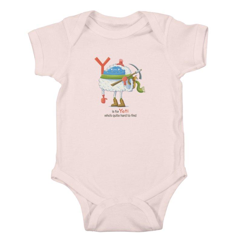Y is for Yeti Kids Baby Bodysuit by Hazy Dell Press