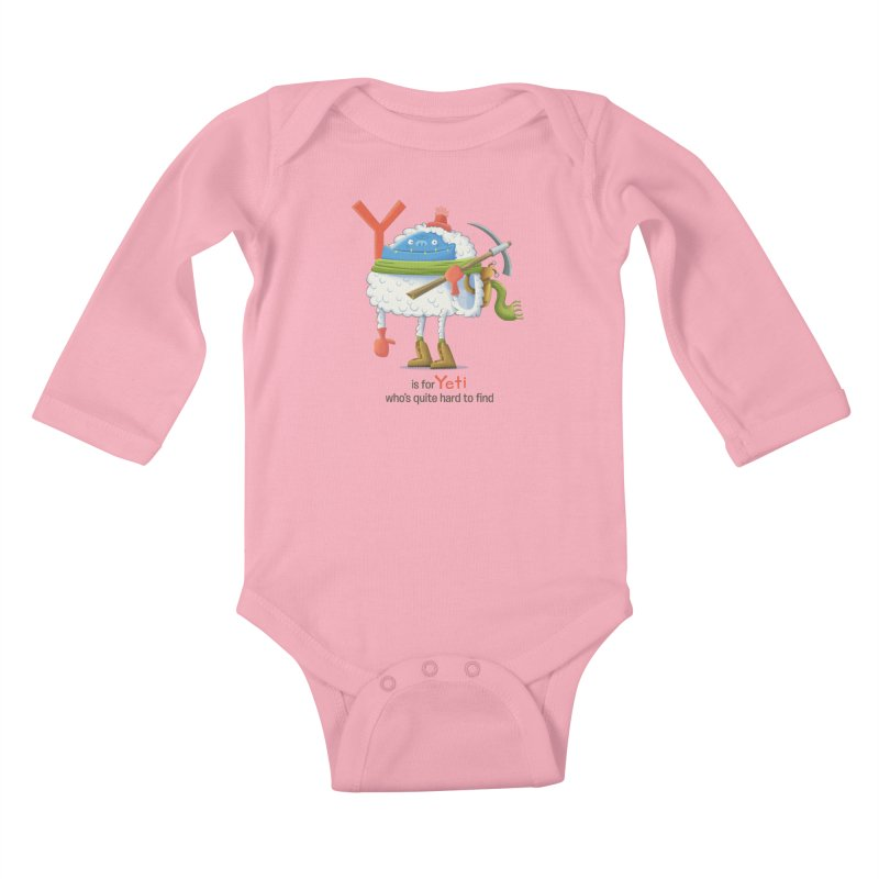 Y is for Yeti Kids Baby Longsleeve Bodysuit by Hazy Dell Press