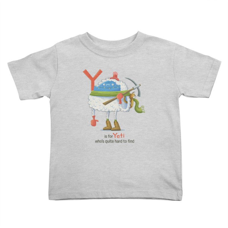 Y is for Yeti Kids Toddler T-Shirt by Hazy Dell Press