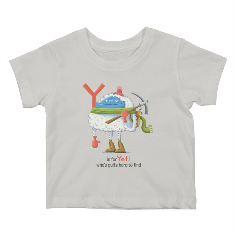 Y is for Yeti Kids Baby T-Shirt by Hazy Dell Press