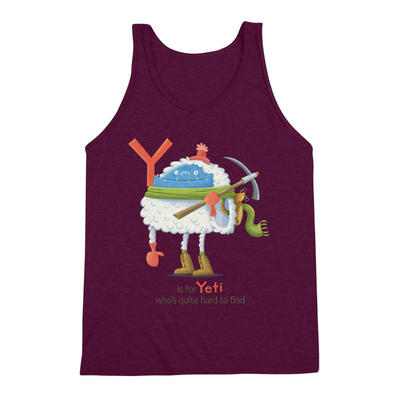 Y is for Yeti Men's Triblend Tank by Hazy Dell Press
