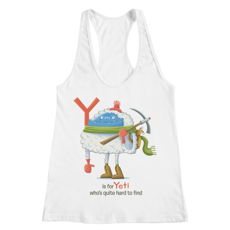 Y is for Yeti Women's Racerback Tank by Hazy Dell Press