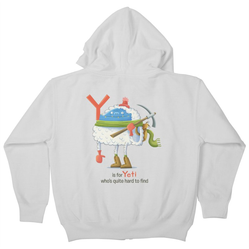 Y is for Yeti Kids Zip-Up Hoody by Hazy Dell Press