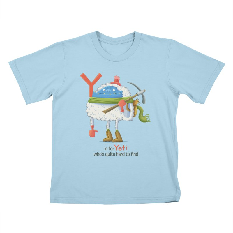 Y is for Yeti Kids T-Shirt by Hazy Dell Press