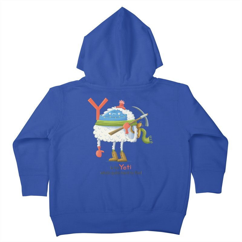 Y is for Yeti Kids Toddler Zip-Up Hoody by Hazy Dell Press