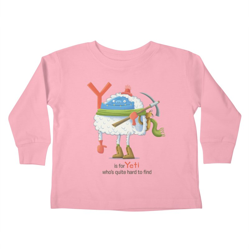 Y is for Yeti Kids Toddler Longsleeve T-Shirt by Hazy Dell Press