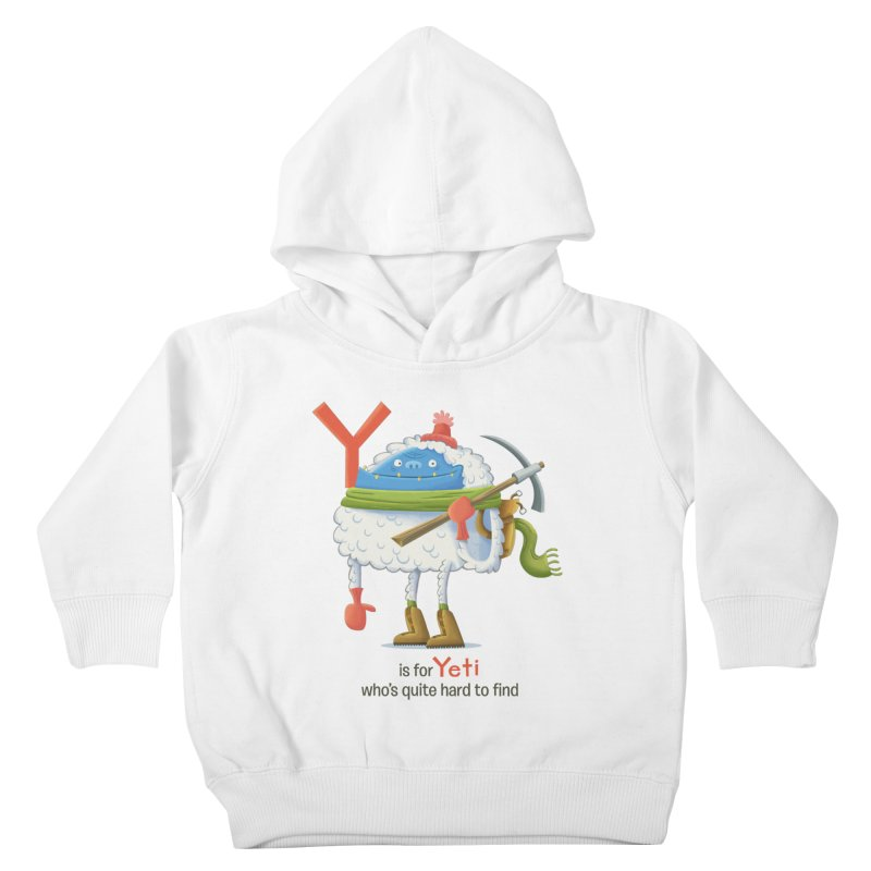 Y is for Yeti Kids Toddler Pullover Hoody by Hazy Dell Press