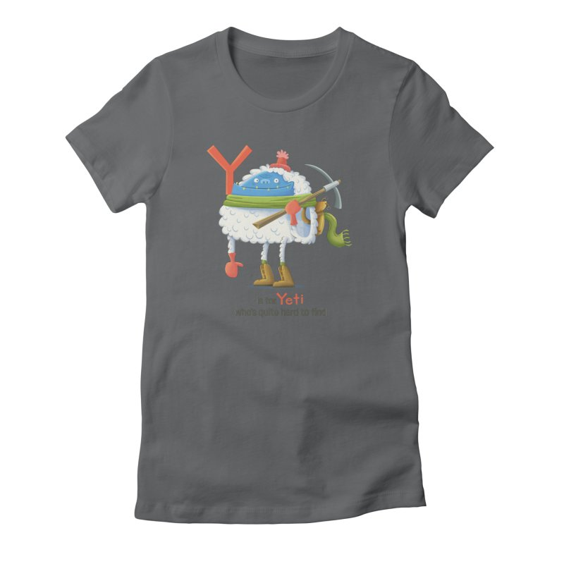 Y is for Yeti Women's T-Shirt by Hazy Dell Press