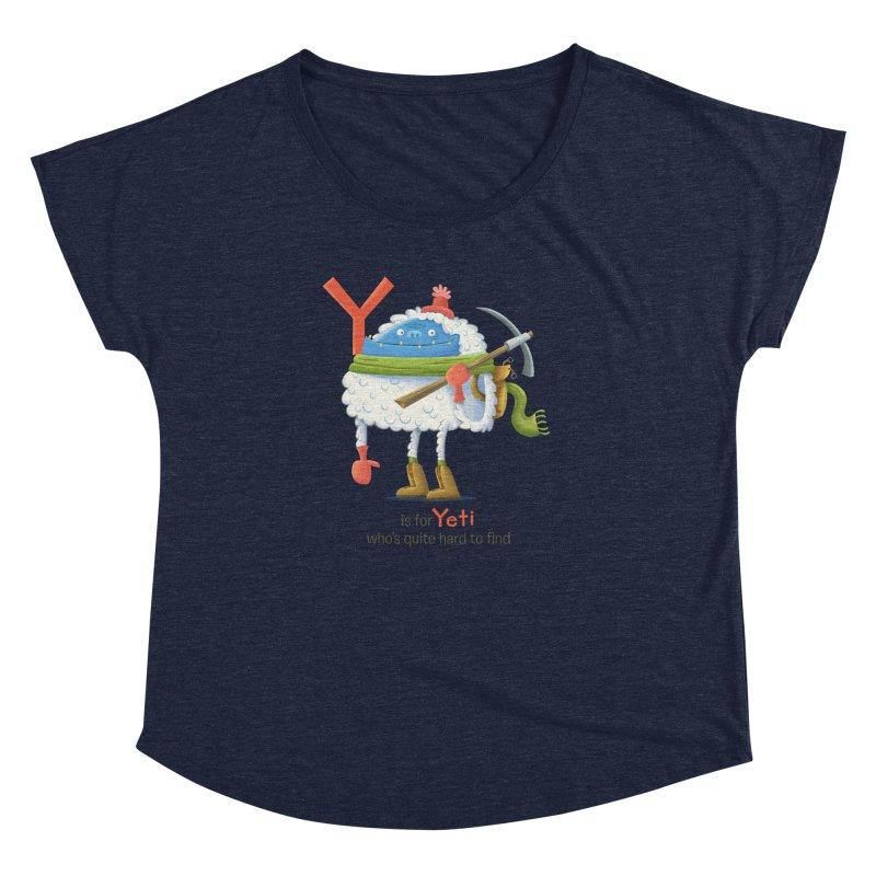 Y is for Yeti Women's Dolman by Hazy Dell Press