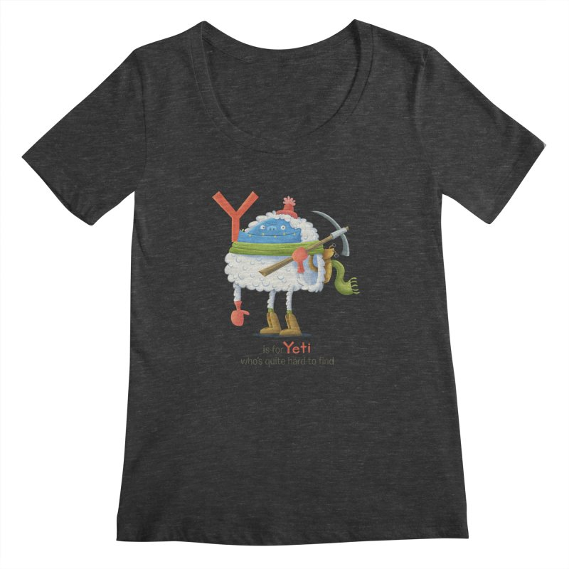 Y is for Yeti Women's Scoopneck by Hazy Dell Press
