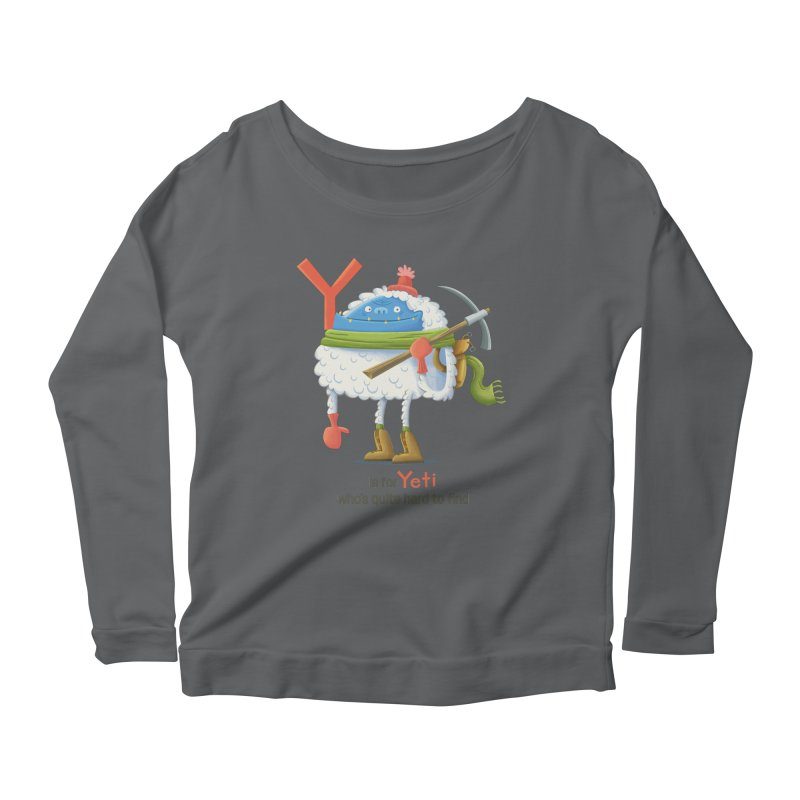 Y is for Yeti Women's Scoop Neck Longsleeve T-Shirt by Hazy Dell Press