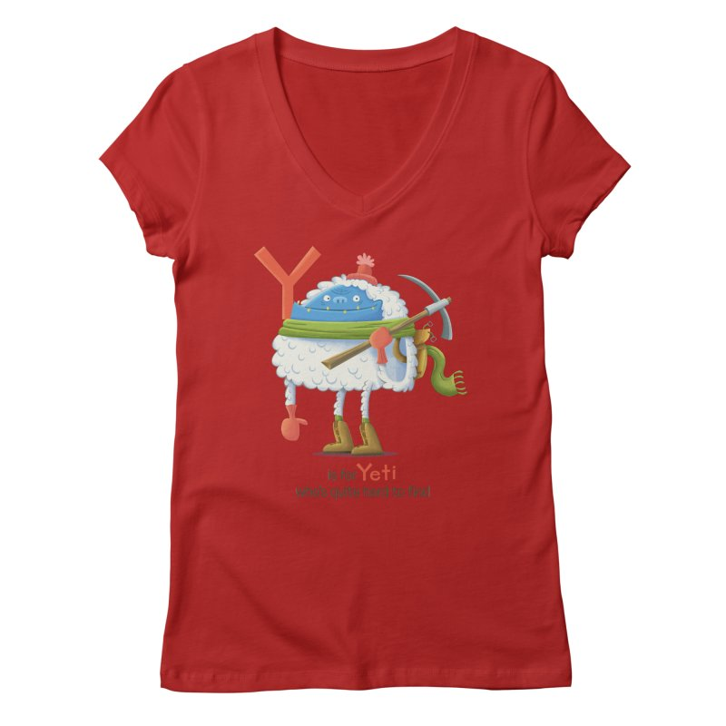 Y is for Yeti Women's V-Neck by Hazy Dell Press