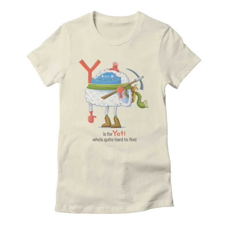 Y is for Yeti Women's Fitted T-Shirt by Hazy Dell Press