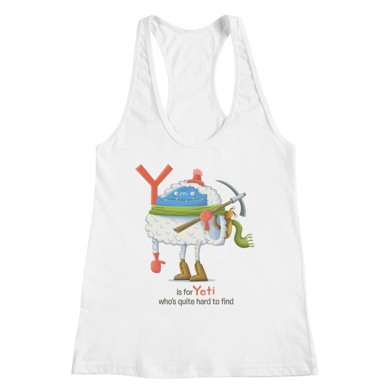 Y is for Yeti Women's Racerback Tank by Hazy Dell Press