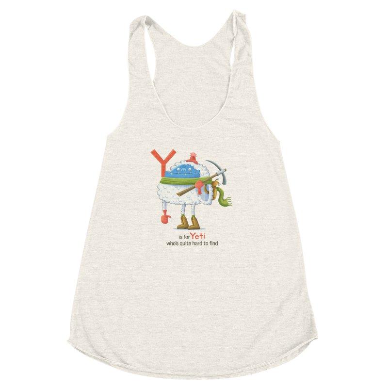 Y is for Yeti Women's Racerback Triblend Tank by Hazy Dell Press