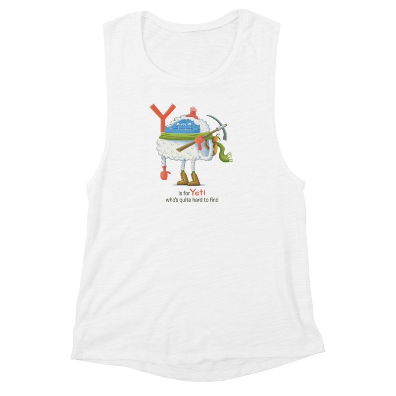 Y is for Yeti Women's Muscle Tank by Hazy Dell Press