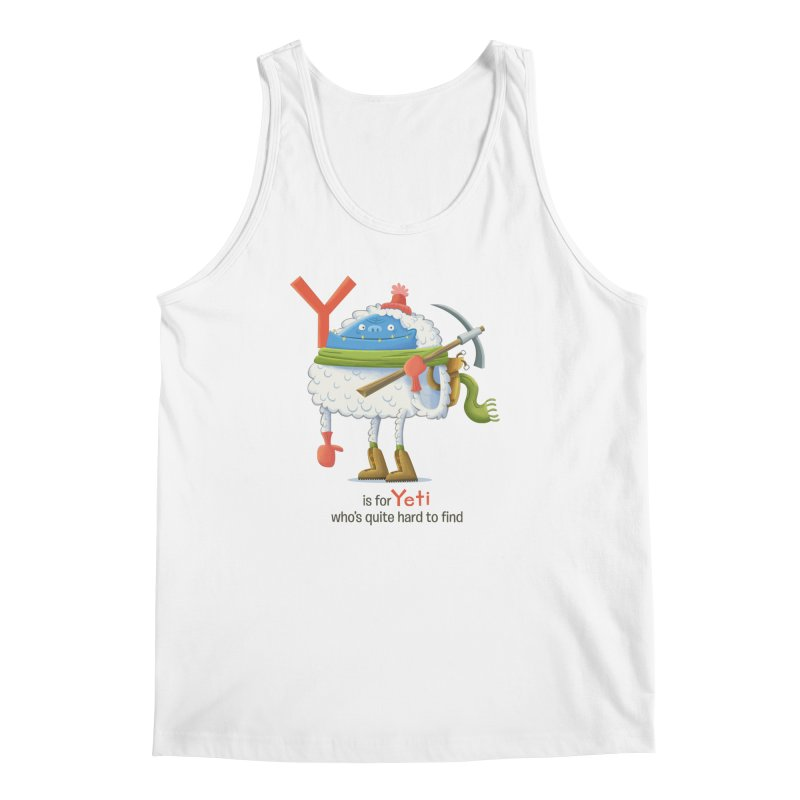 Y is for Yeti Men's Regular Tank by Hazy Dell Press