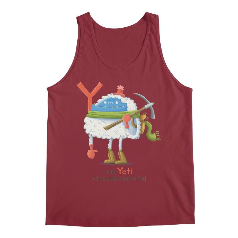 Y is for Yeti Men's Regular Tank by Hazy Dell Press